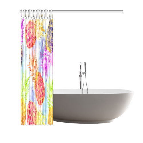 "Pineapples Shower Curtain 66""x72"""