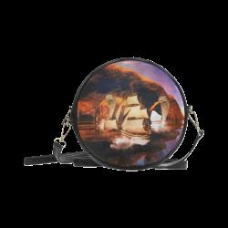 Fantasy seascape Round Sling Bag (Model 1647)