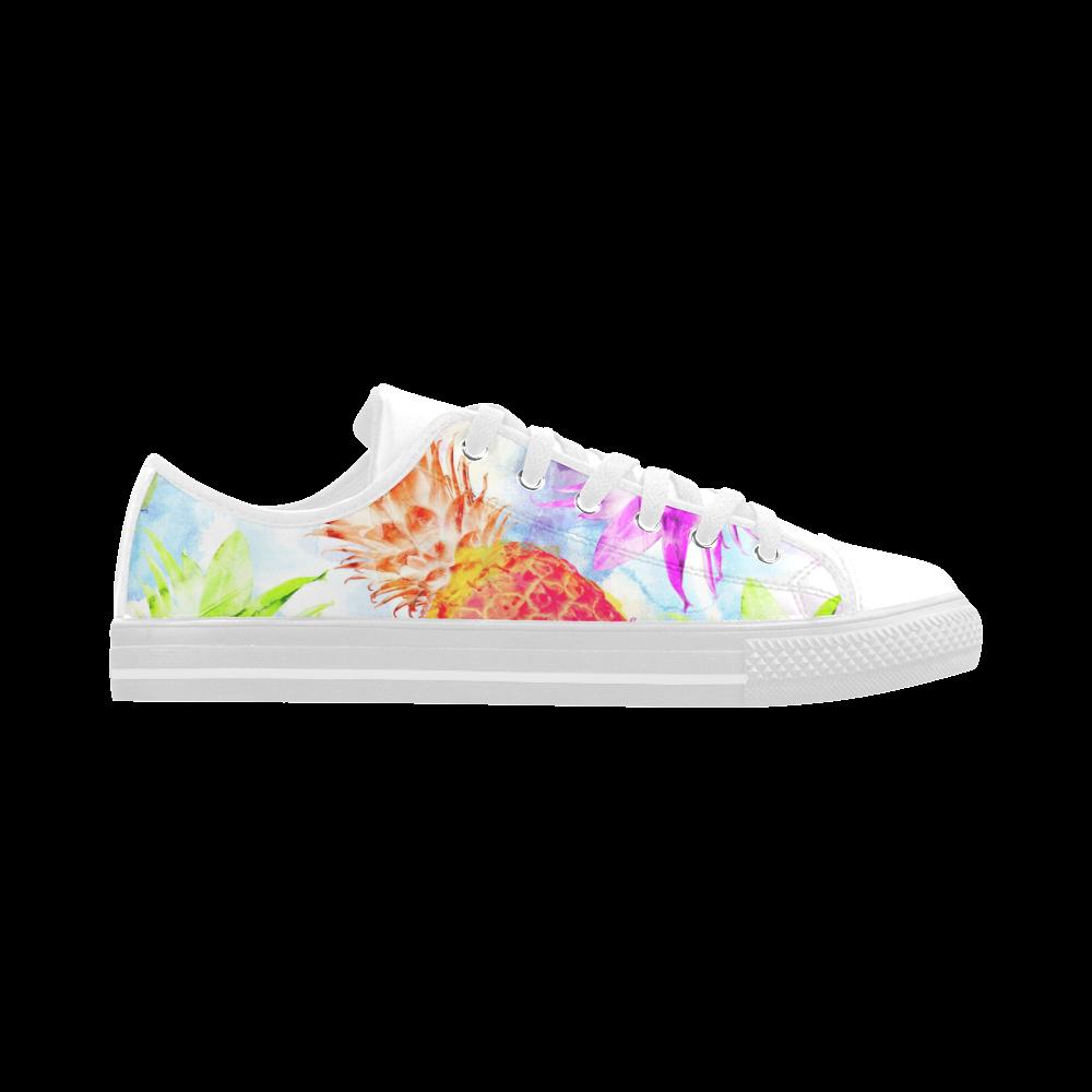 Pineapples Aquila Microfiber Leather Women's Shoes (Model 028)