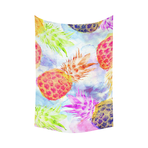 "Pineapples Cotton Linen Wall Tapestry 90""x 60"""