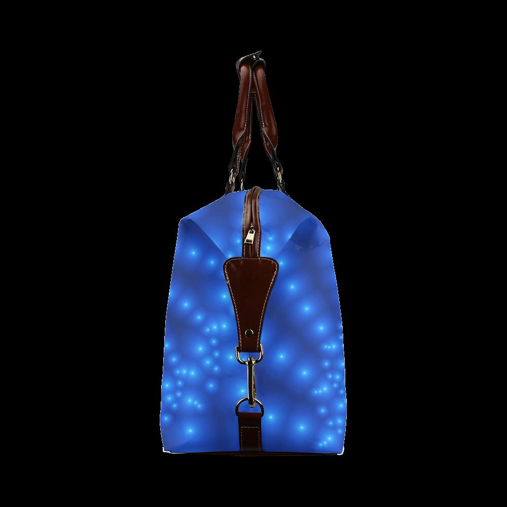 Glossy Blue Beads Spiral Fractal Classic Travel Bag (Model 1643)