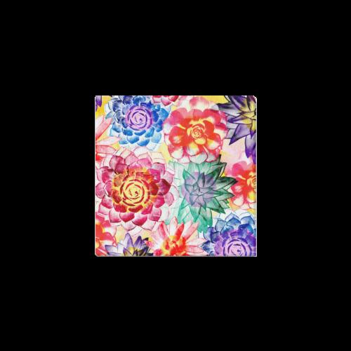 """Succulents Canvas Print 4""""x4"""""""