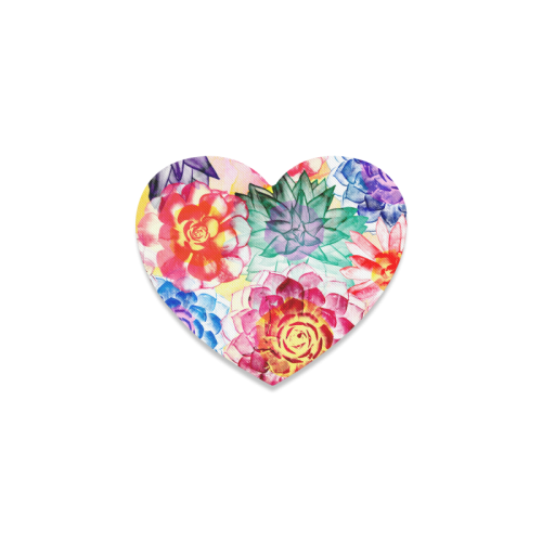 Succulents Heart Coaster