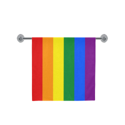 "Gay Pride Rainbow Flag Stripes Bath Towel 30""x56"""