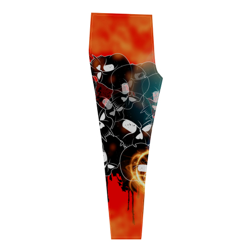 Awesome skulls Cassandra Women's Leggings (Model L01)
