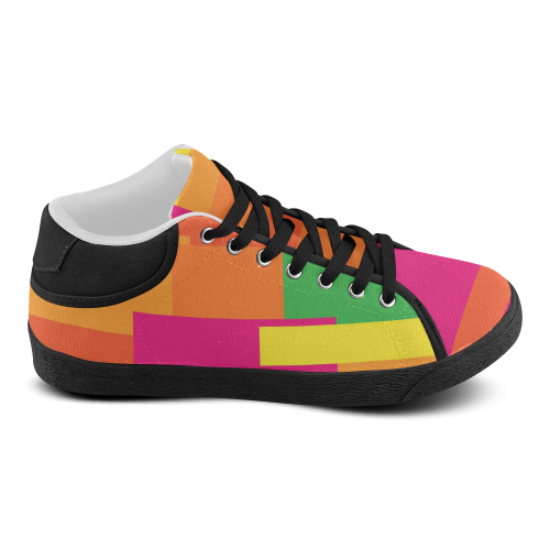Bright Squares Women's Chukka Canvas Shoes (Model 003)