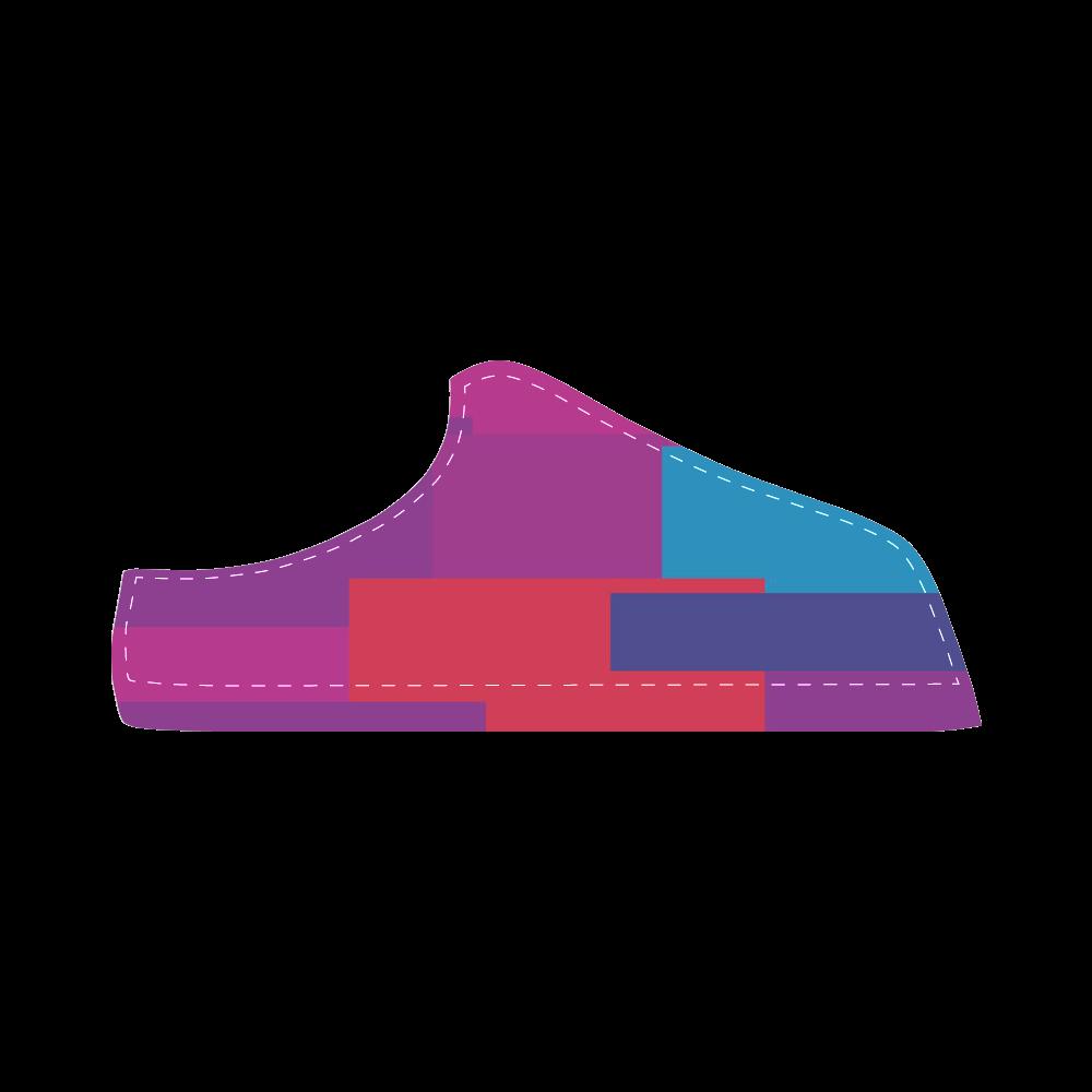 Rainbow Squares Women's Chukka Canvas Shoes (Model 003)