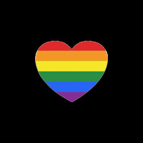 Gay Pride Rainbow Flag Stripes Heart Coaster | ID: D346723
