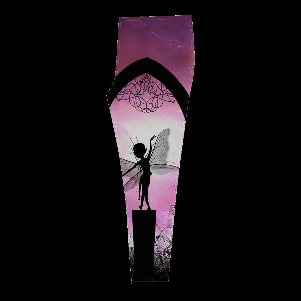 Cute dancing fairy in the night Cassandra Women's Leggings (Model L01)