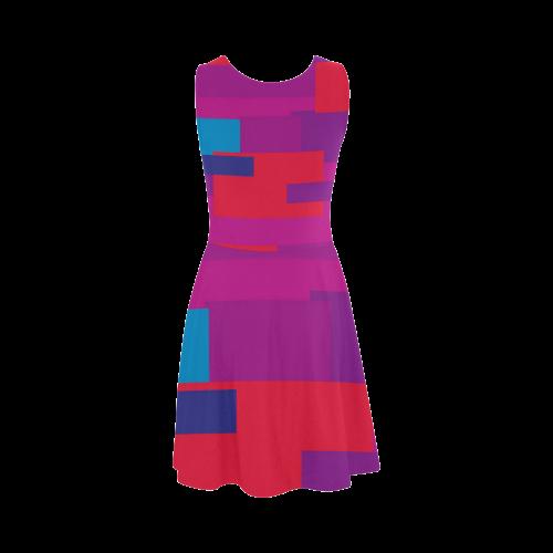 Rainbow Squares Atalanta Sundress (Model D04)