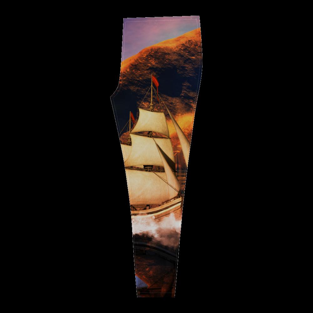 Fantasy seascape Cassandra Women's Leggings (Model L01)