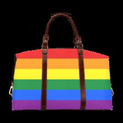 Gay Pride Rainbow Flag Stripes Classic Travel Bag (Model 1643)