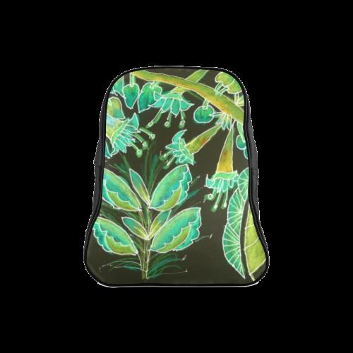 Irish Garden, Lime Green Flowers Dance in Joy School Backpack/Large (Model 1601)