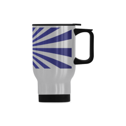 Blue Spiral Travel Mug (Silver) (14 Oz)
