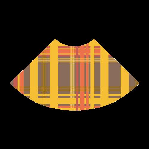 Orange Brown Plaid Atalanta Sundress (Model D04)