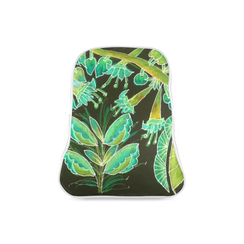 Irish Garden, Lime Green Flowers Dance in Joy School Backpack/Large (Model 1601)
