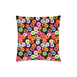 """Colorful Yummy DONUTS pattern Custom Zippered Pillow Case 16""""x16"""" (one side)"""