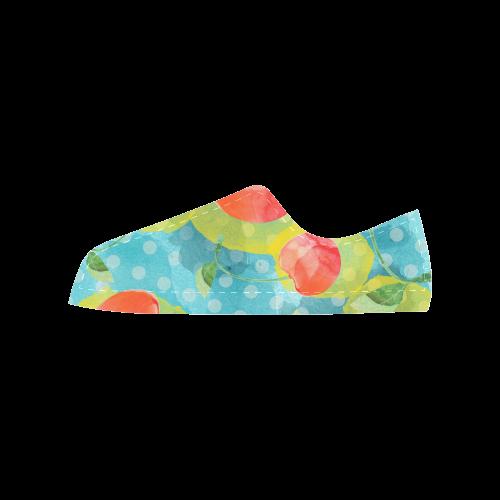Cherries Aquila Microfiber Leather Women's Shoes (Model 028)