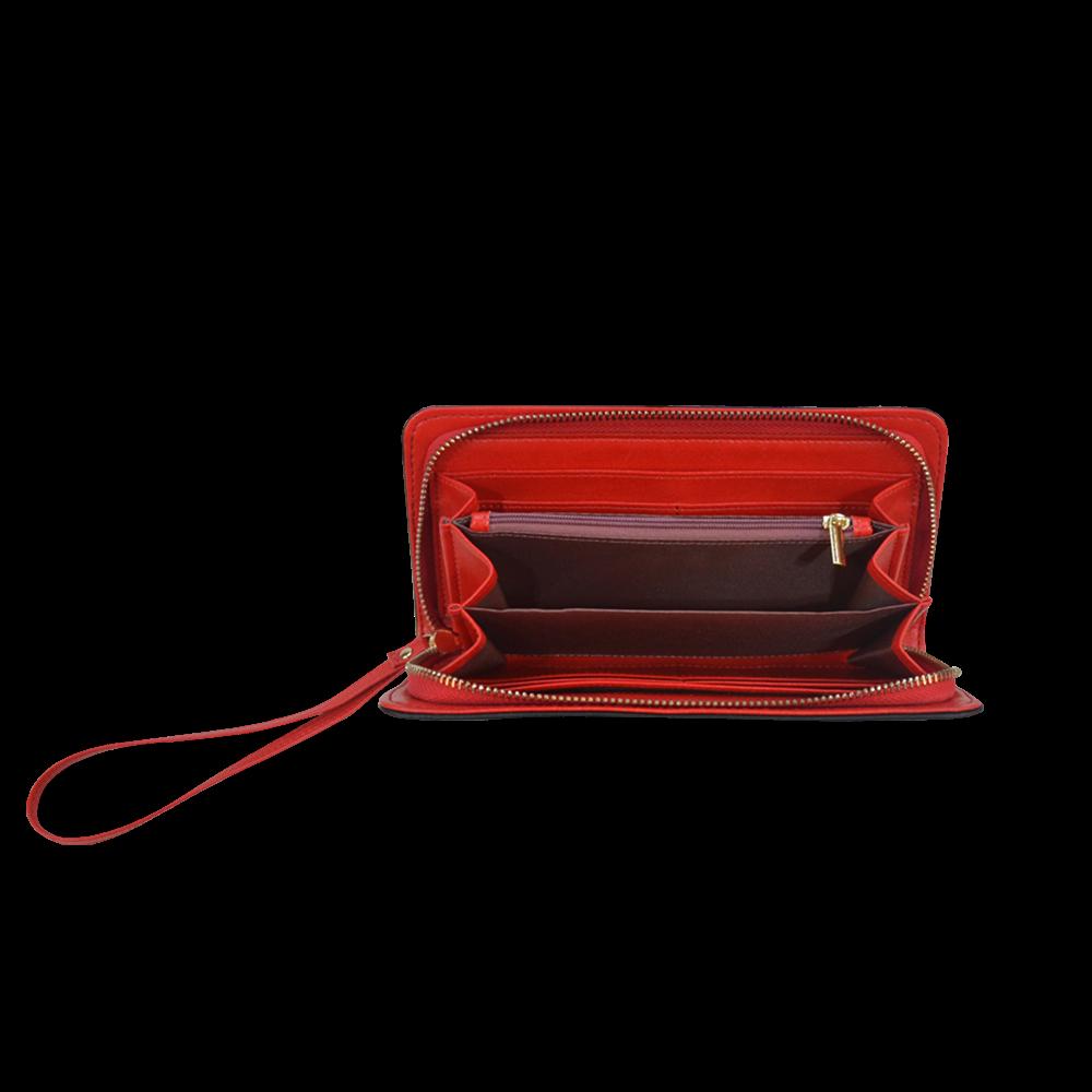 Cherries Women's Clutch Wallet (Model 1637)
