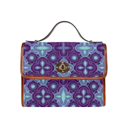 Purple blue pattern Waterproof Canvas Bag/All Over Print (Model 1641)