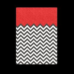 "HIPSTER zigzag chevron pattern black & white Blanket 58""x80"""