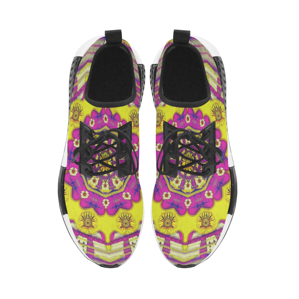 Celebrating summer in soul and mind mandala style Men's Draco Running Shoes (Model 025)
