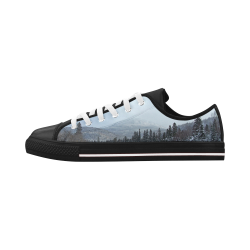 Winter Wonderland Aquila Microfiber Leather Men's Shoes (Model 028)