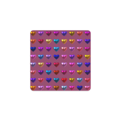 shiny hearts 3 Square Coaster
