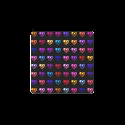 shiny hearts 2 Square Coaster