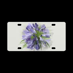 Purple Flowers Classic License Plate
