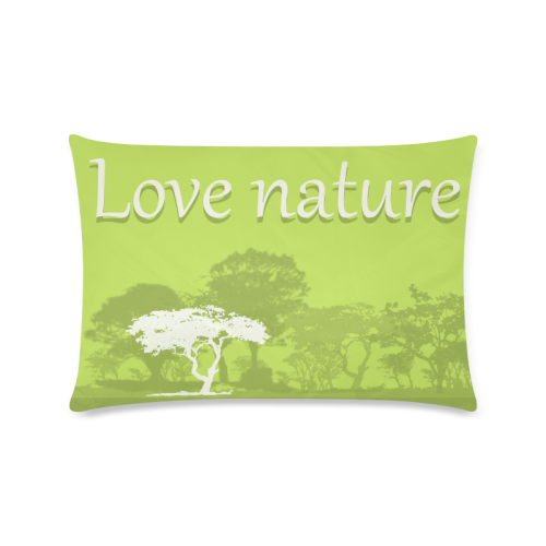 """Love Nature Trees Green Custom Zippered Pillow Case 16""""x24""""(Twin Sides)"""