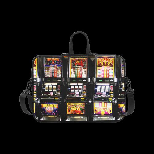 "Lucky Slot Machines - Dream Machines Laptop Handbags 17"""