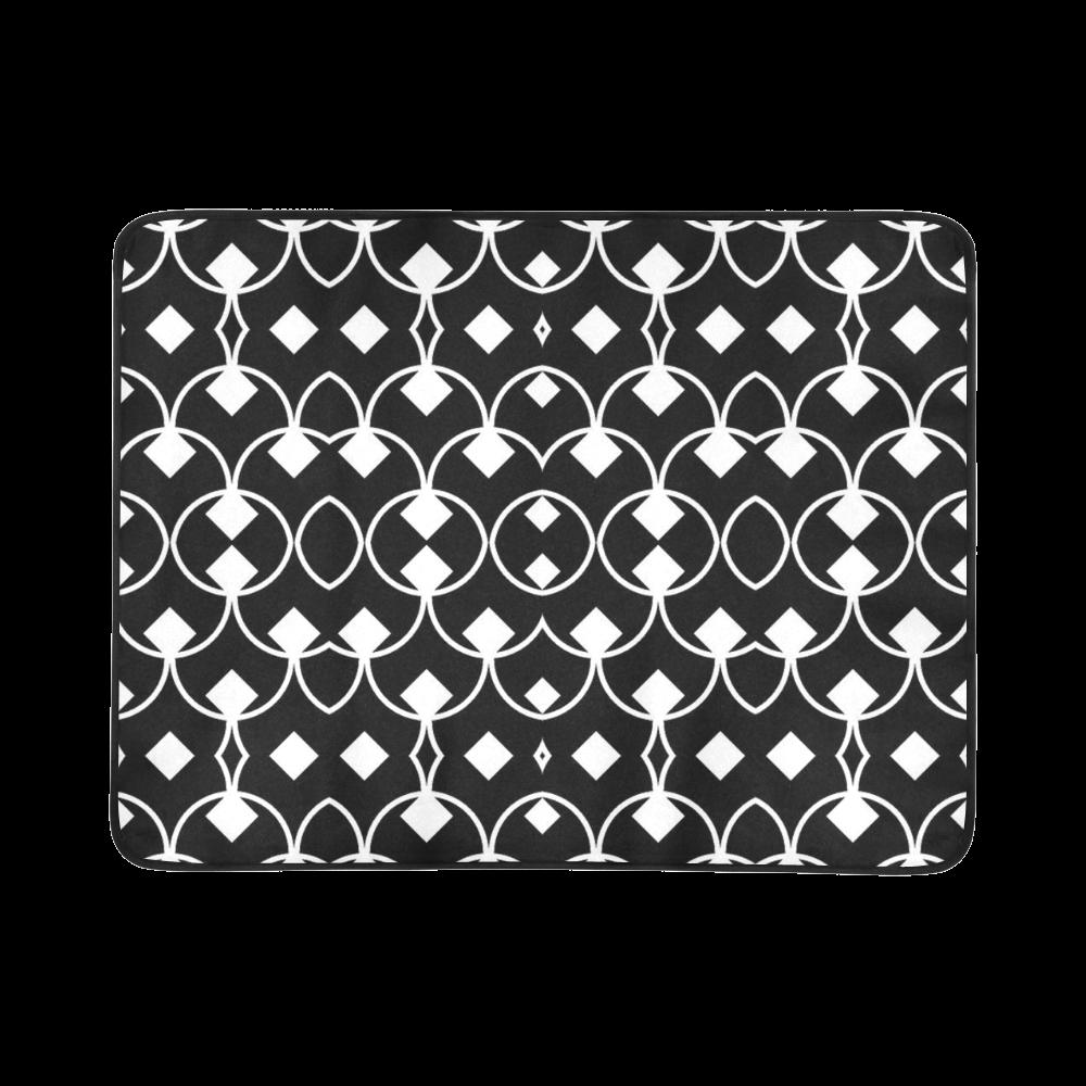 "black and white Pattern 4416 Beach Mat 78""x 60"""