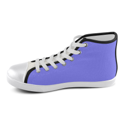 Periwinkle Perkiness Men's High Top Canvas Shoes (Model 002)