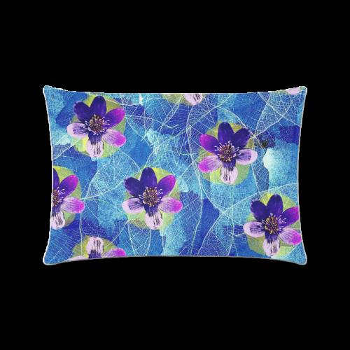 "Purple Flowers Custom Zippered Pillow Case 16""x24""(Twin Sides)"
