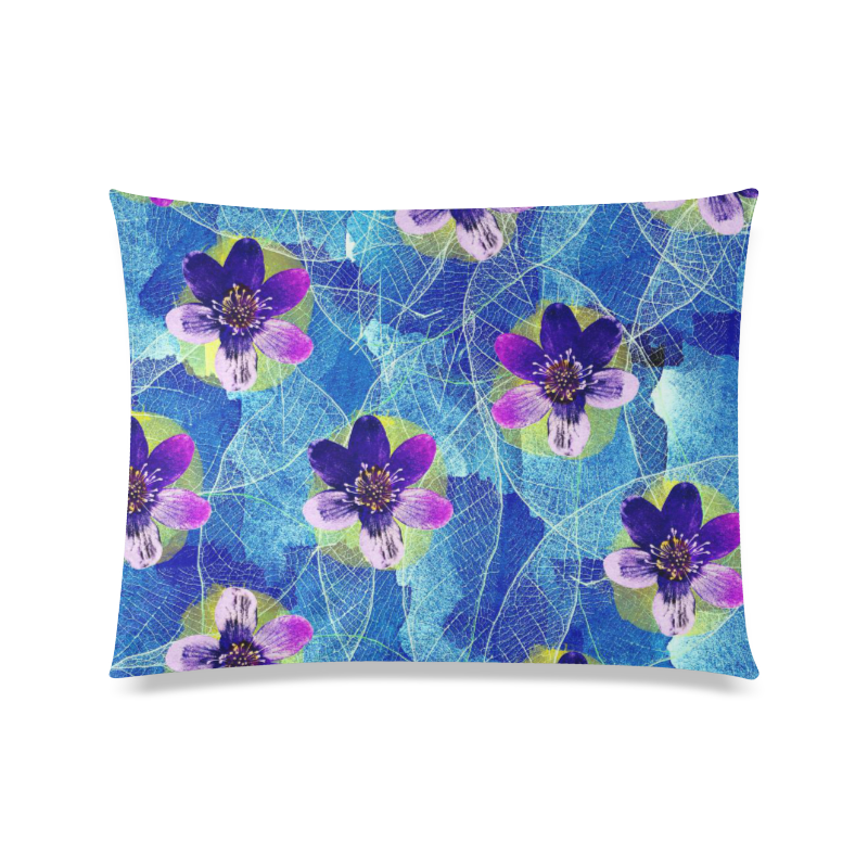 "Purple Flowers Custom Zippered Pillow Case 20""x26""(Twin Sides)"