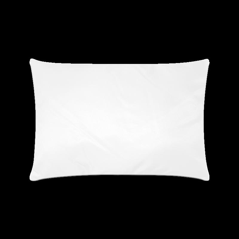 "Purple Flowers Custom Rectangle Pillow Case 16""x24"" (one side)"