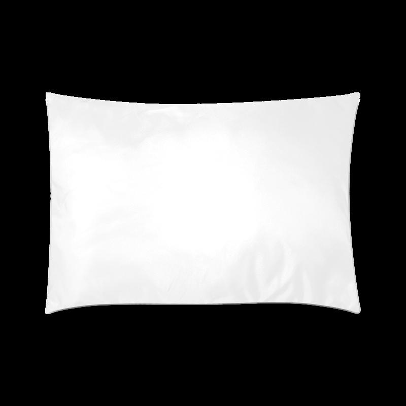"Purple Flowers Custom Zippered Pillow Case 20""x30"" (one side)"