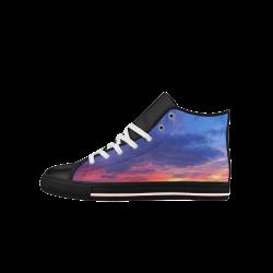 Evening's Face Aquila High Top Microfiber Leather Men's Shoes (Model 027)