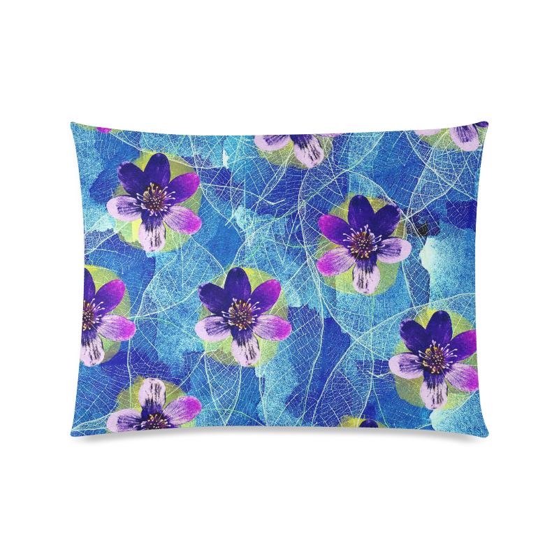"Purple Flowers Custom Picture Pillow Case 20""x26"" (one side)"