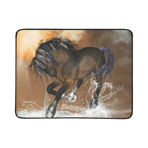 "Wonderful horse Beach Mat 78""x 60"""
