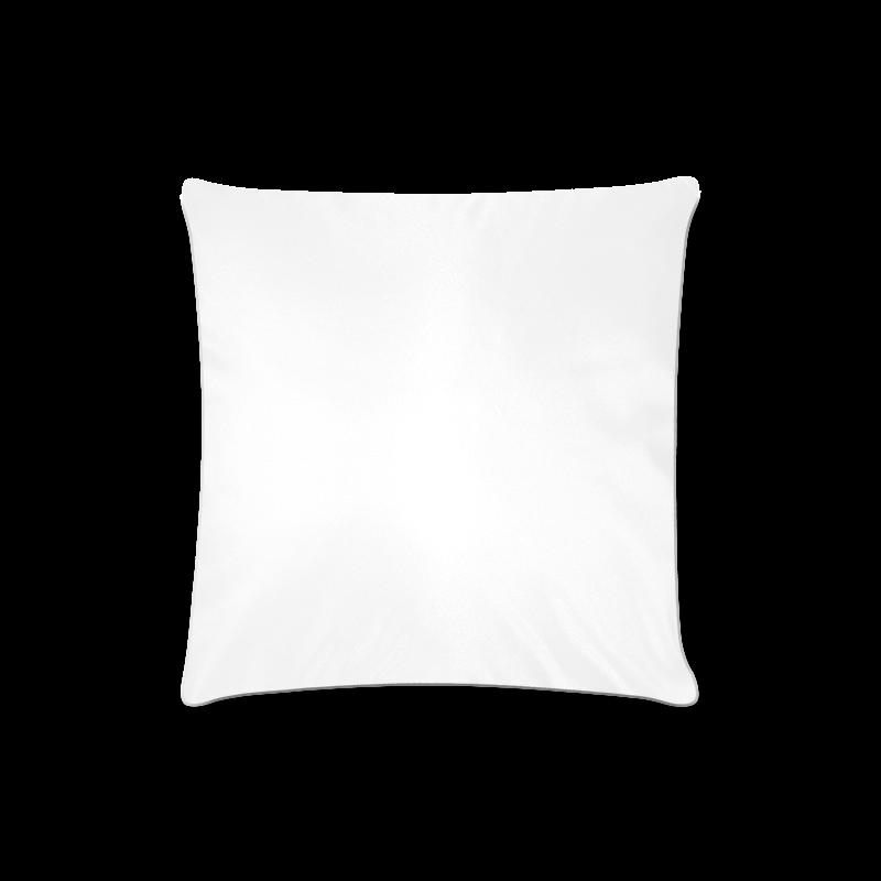 "Purple Flowers Custom Zippered Pillow Case 16""x16"" (one side)"