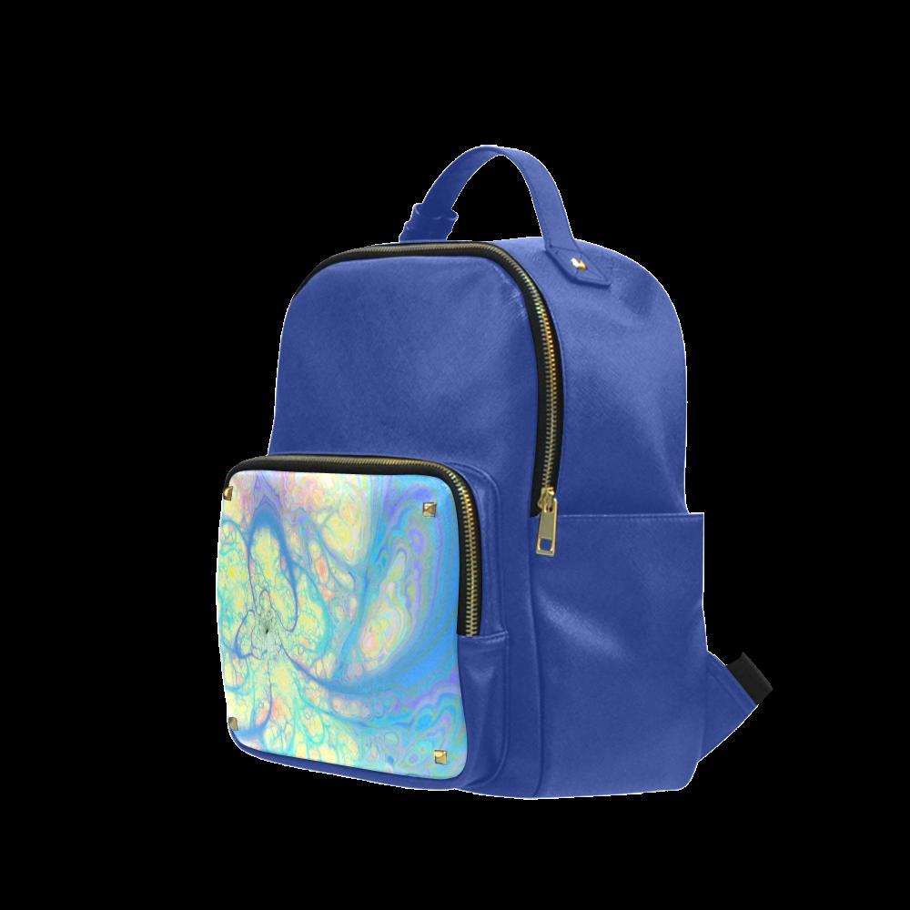 Blue Angel, Abstract Cosmic Azure Lemon Campus backpack/Large (Model 1650)