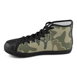 1948 Retro Camouflage Men's High Top Canvas Shoes (Model 002)