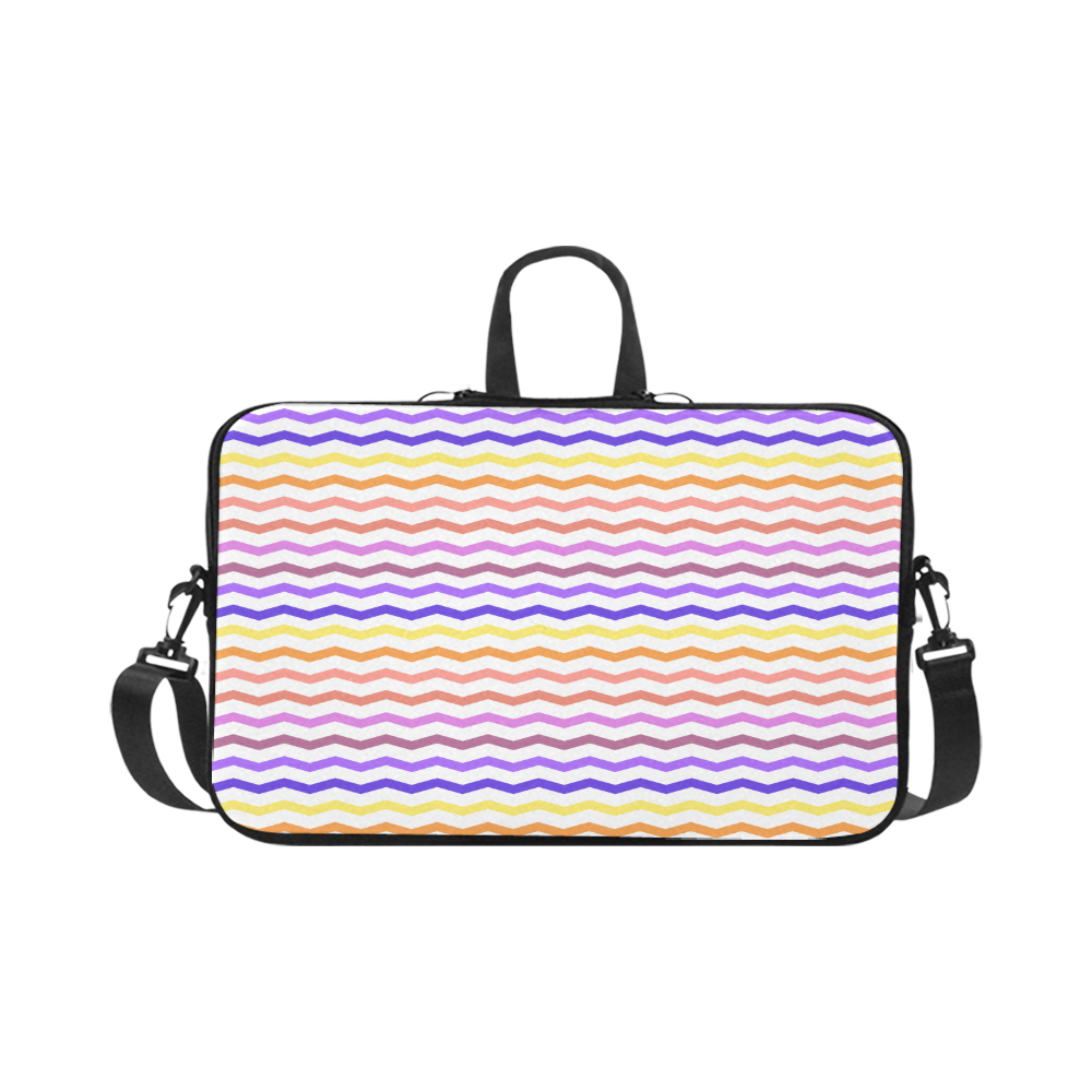 Colorfull Zig Zag Pattern Chevron White Macbook Pro 17""