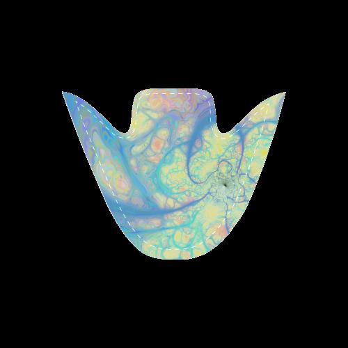 Blue Angel, Abstract Cosmic Azure Lemon Women's Unusual Slip-on Canvas Shoes (Model 019)