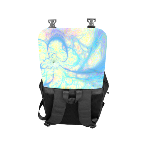 Blue Angel, Abstract Cosmic Azure Lemon Casual Shoulders Backpack (Model 1623)