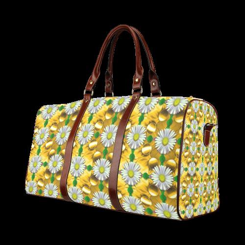 Summer festive in green grass Waterproof Travel Bag/Small (Model 1639)