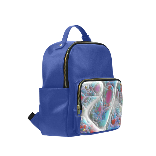 Blue & White Quilt, Abstract Delight Campus backpack/Large (Model 1650)
