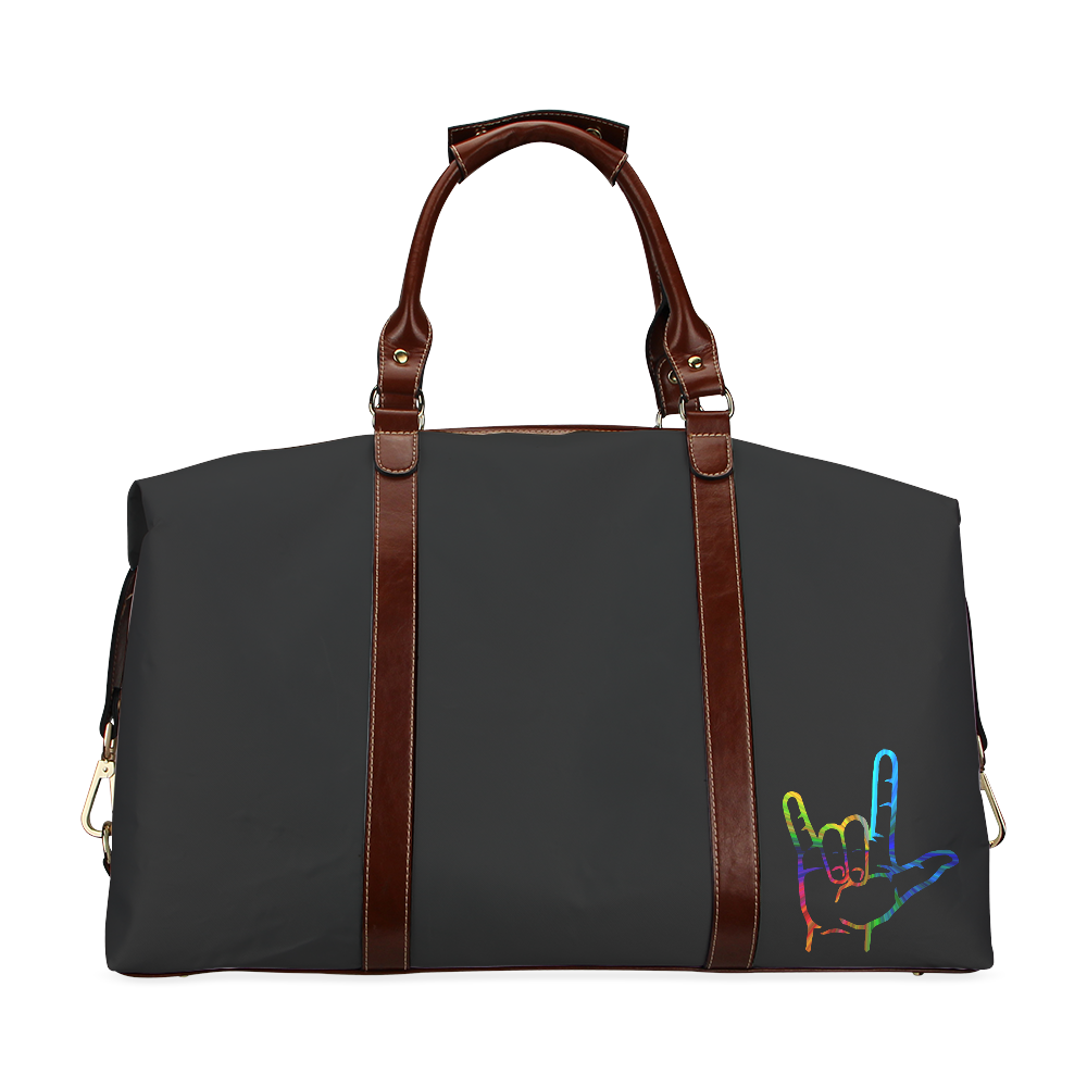 Rainbow Burst ASL I Love You Classic Travel Bag (Model 1643)